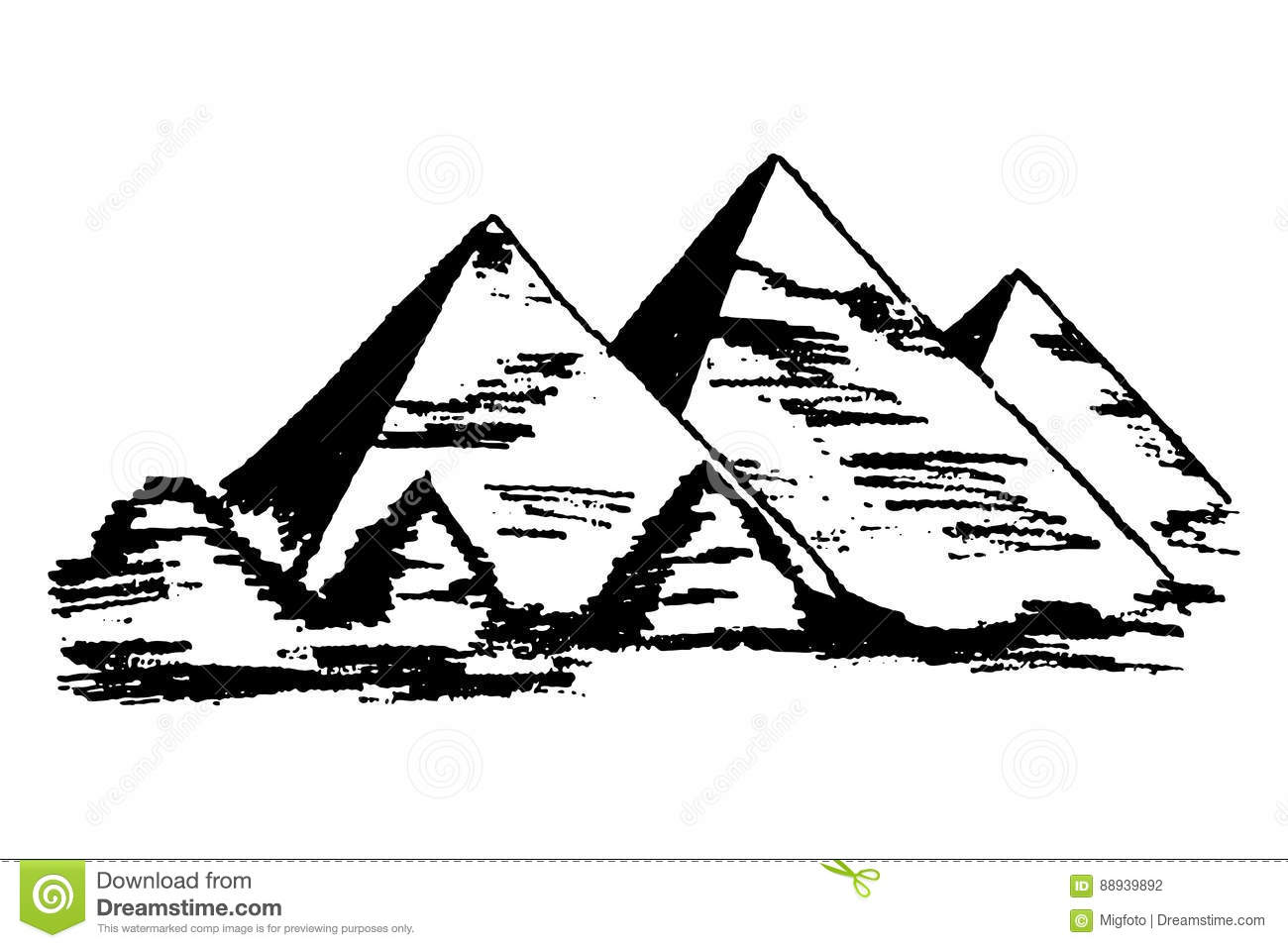 Egyptian Pyramids Vector Stock Vector Image Of Miracle