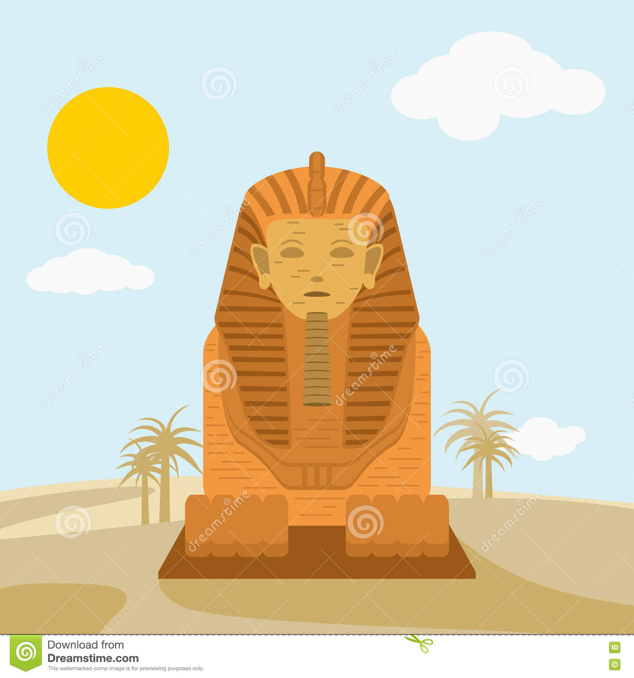 Egyptian Headdress Template