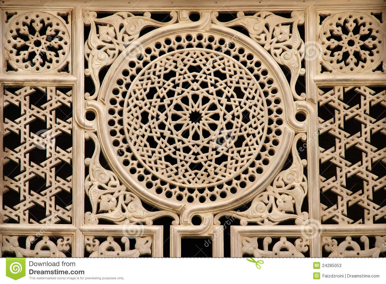Egyptian Window Ornament Stock Image Image Of Masjid