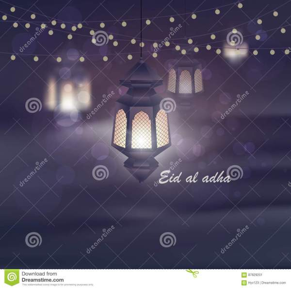 Eid Al Adha Greeting Card Template On Eid AlFitr Muslim