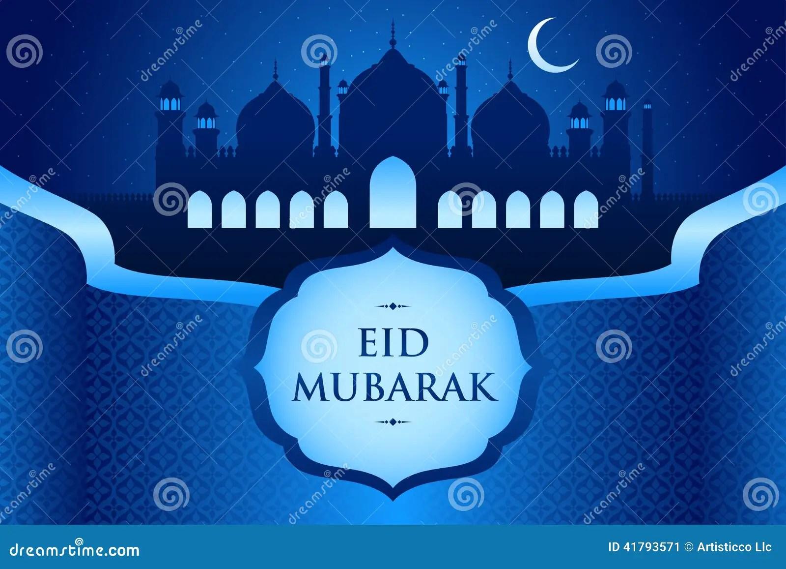 Eid Al Fitr Greeting Card Stock Vector Illustration Of