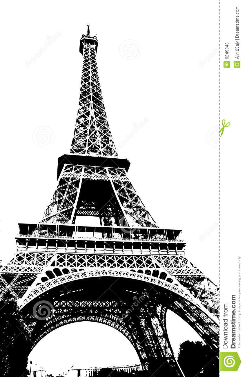 Eiffel Tower Paris France Stock Vector Image Of Tall