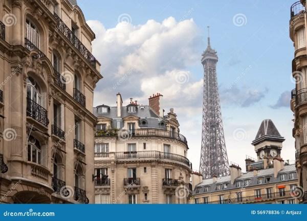 Eiffel Tower In Paris France Stock - 56978836