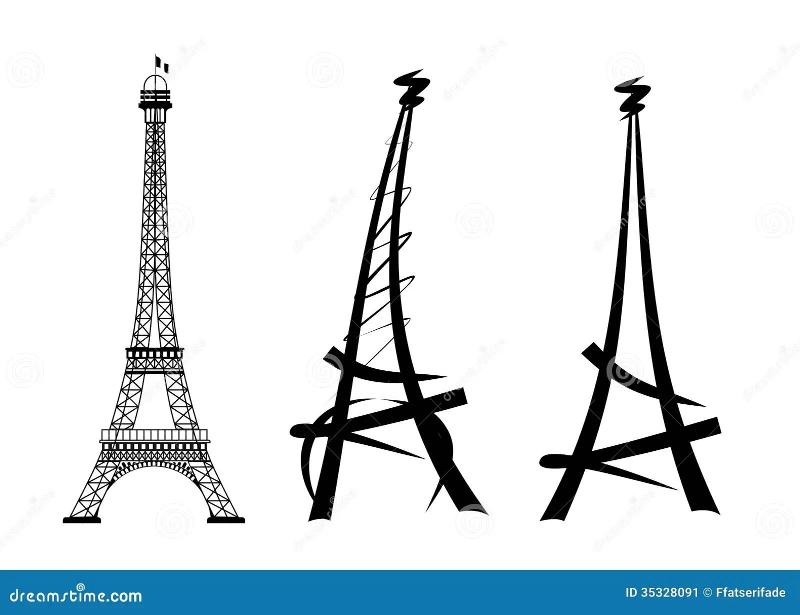 Eiffel Tower Stock Illustration Image Of Symbol Landmark