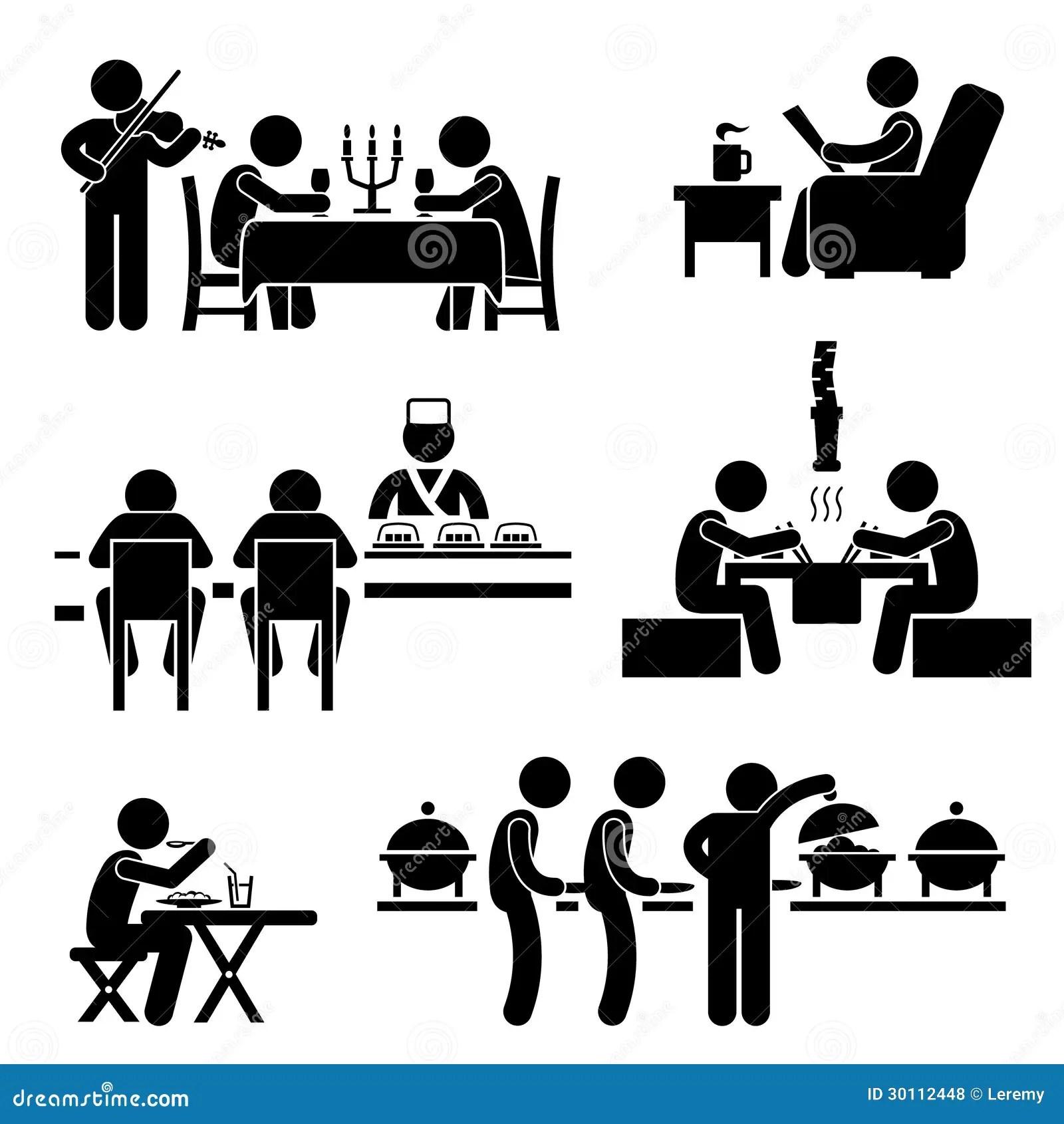 Restaurant Cafe Nahrungsmittelgetrank Piktogramm