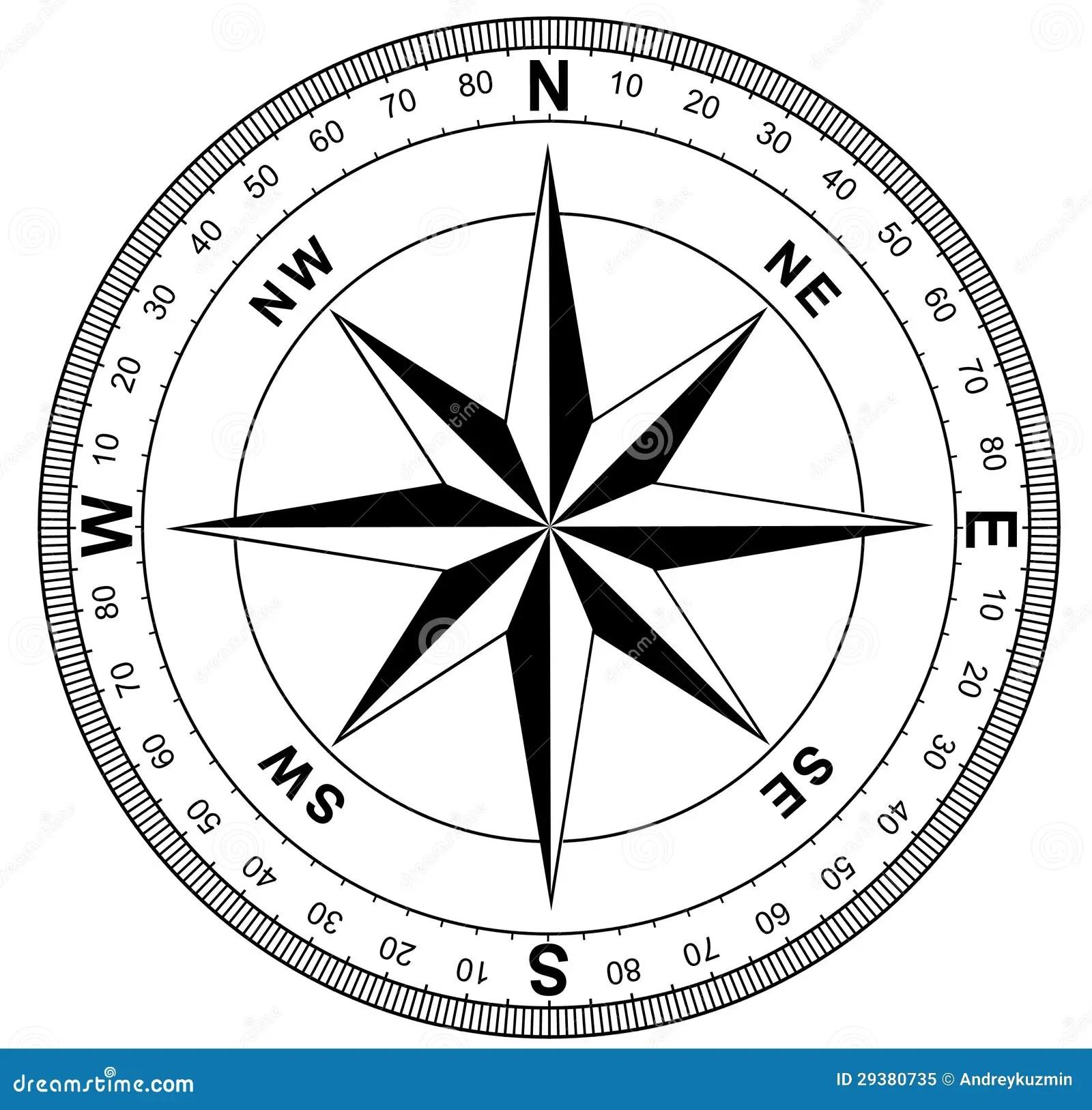 Einfache Kompassrose Stock Abbildung Illustration Von