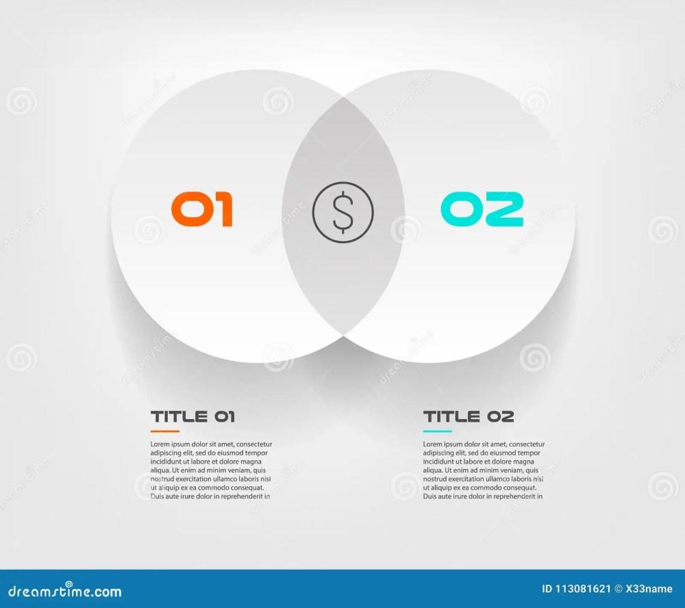 medium resolution of el infographics del diagrama de venn para el vector y el m rketing del dise o de dos