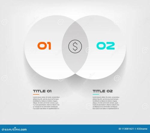 small resolution of el infographics del diagrama de venn para el vector y el m rketing del dise o de dos