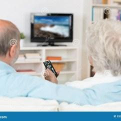 70s Sofa Kivik Review 2017 Elderly Couple Watching Television Royalty Free Stock ...