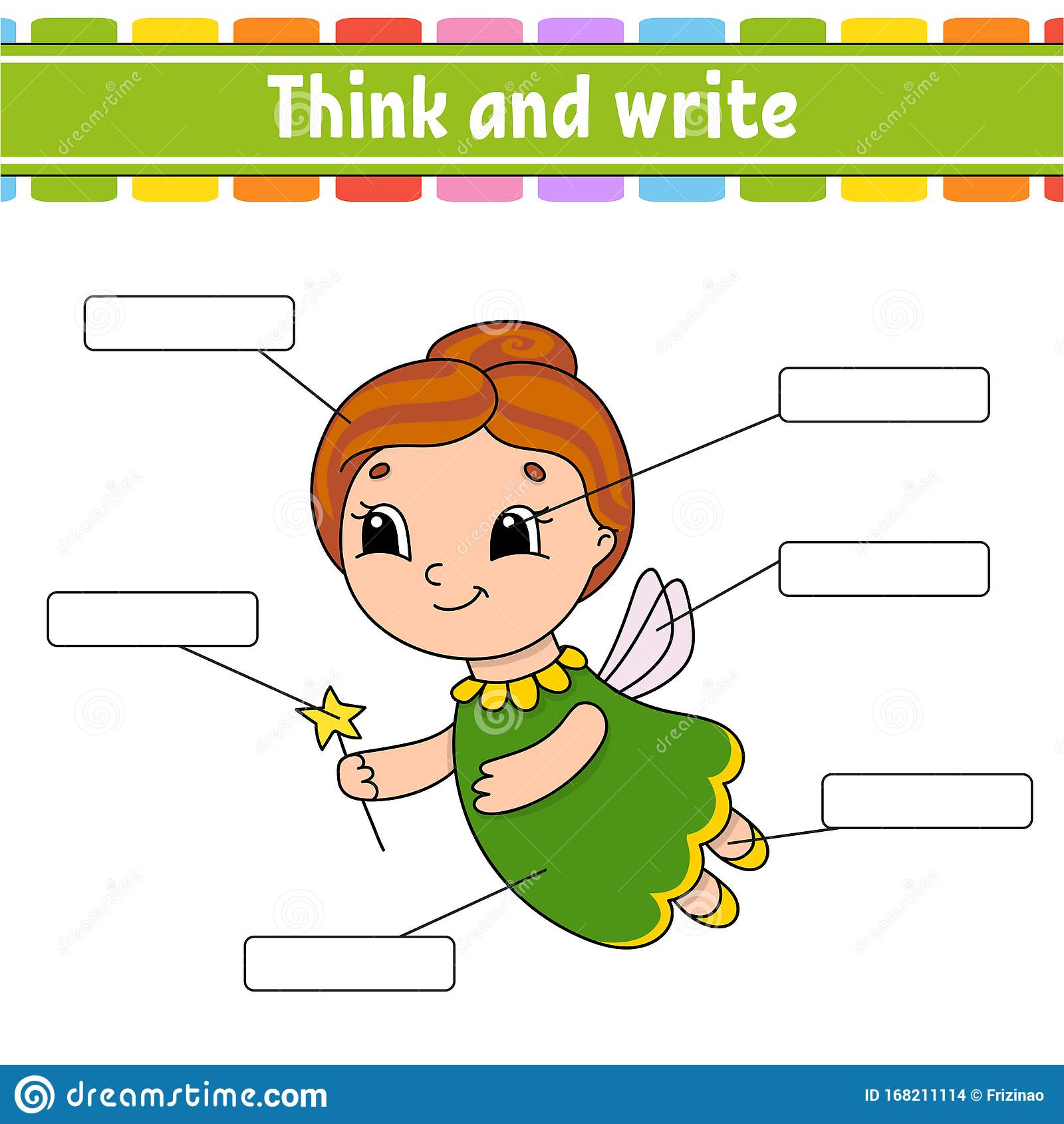 Elderly Fairy Think And Write Body Part Learning Words