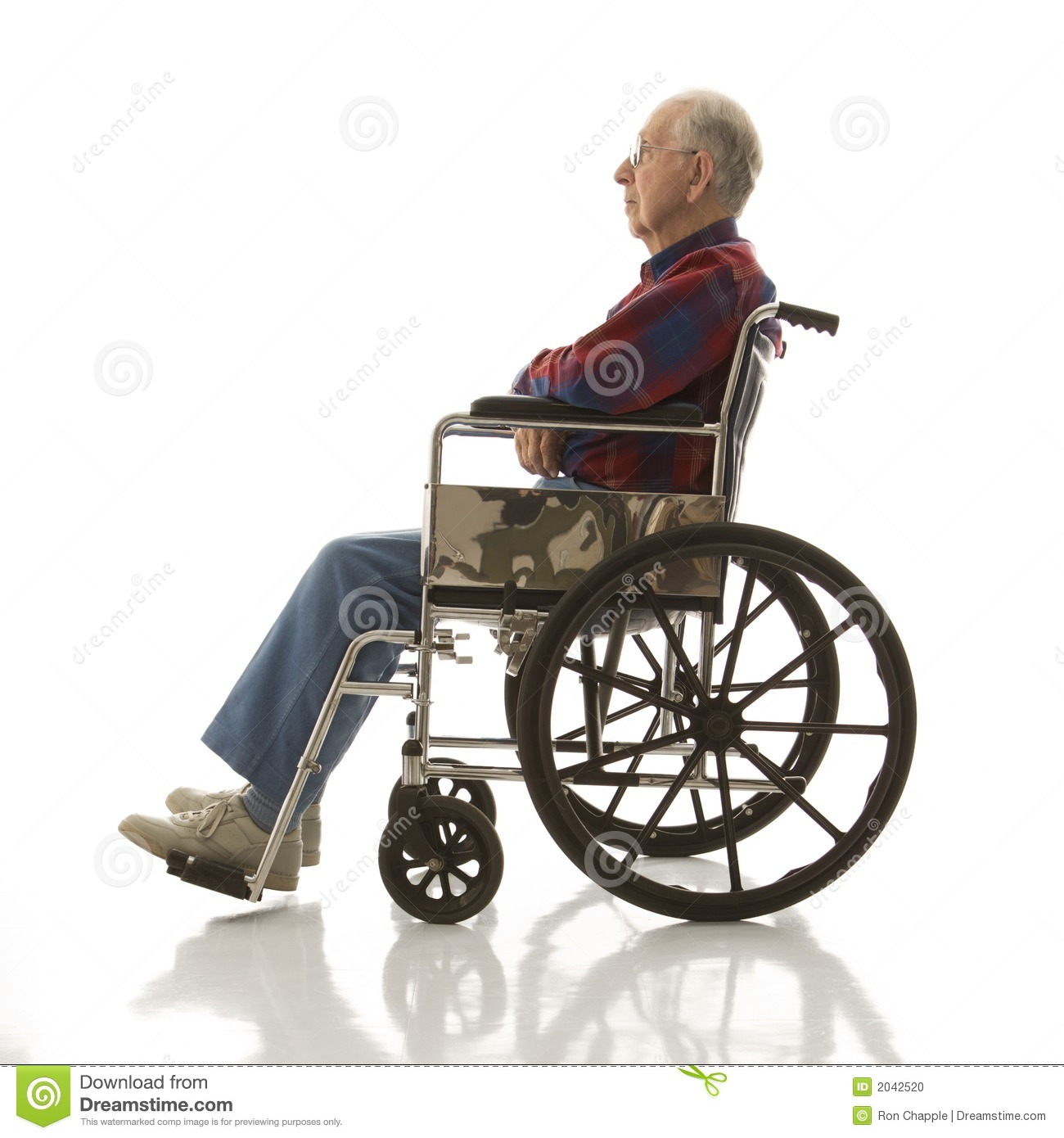 wheelchair man tufted leather chair elderly in stock photo image of plaid