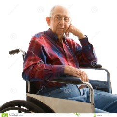 Wheelchair Man Wicker Chair Cushions With Ties Elderly In Stock Photo Image Of