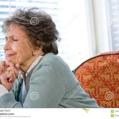 70s Sofa Sofas For Cheap In Los Angeles Elderly Woman Upset Sitting Alone By Window Royalty Free ...