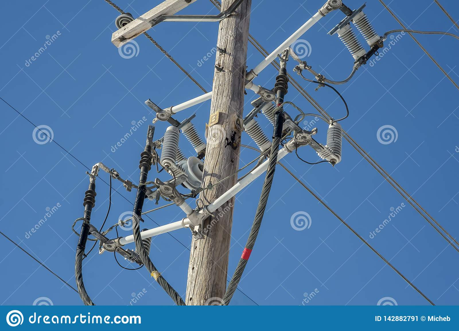 hight resolution of electrical insulator is a device used to support the power cord on a wood pole