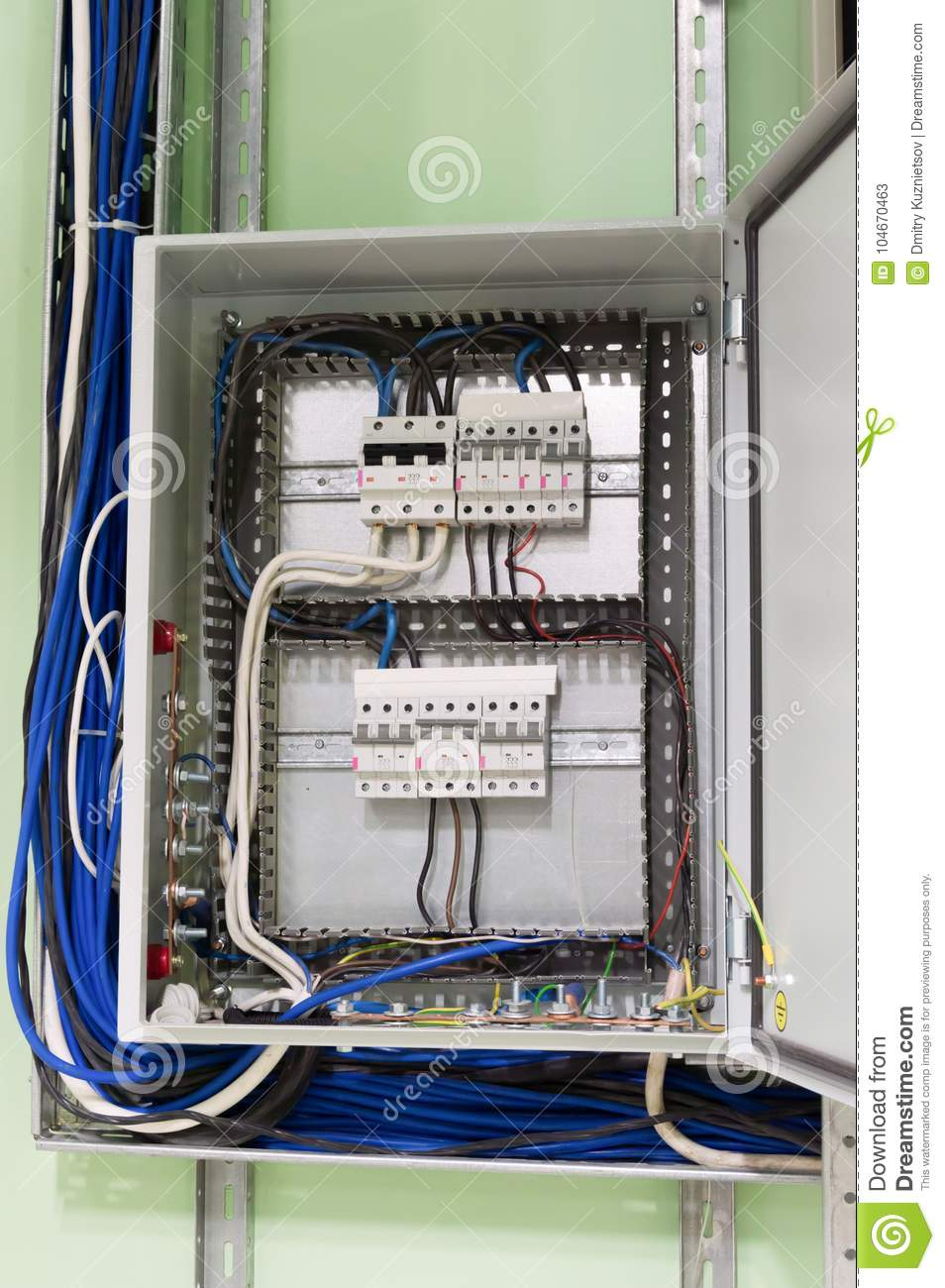 hight resolution of electric box with wires and mcb x28 micro circuit braker x29 in the