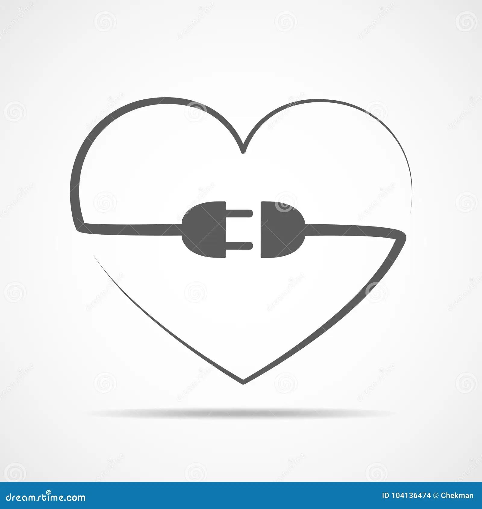 Abstract Heart Vector Illustration Stock Illustration