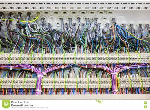 small resolution of in an fuse box there are an lot of electrical cables with tar