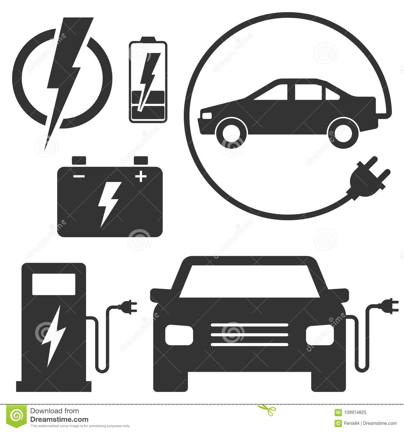 hight resolution of electric car charging station sign set of vector illustrations eco fuel for automobile transport black signs isolated on white car with a plug