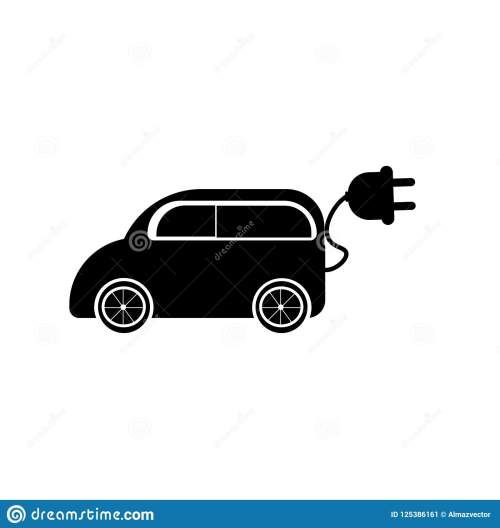 small resolution of electric car icon vector isolated on white background for your web and mobile app design electric car logo concept