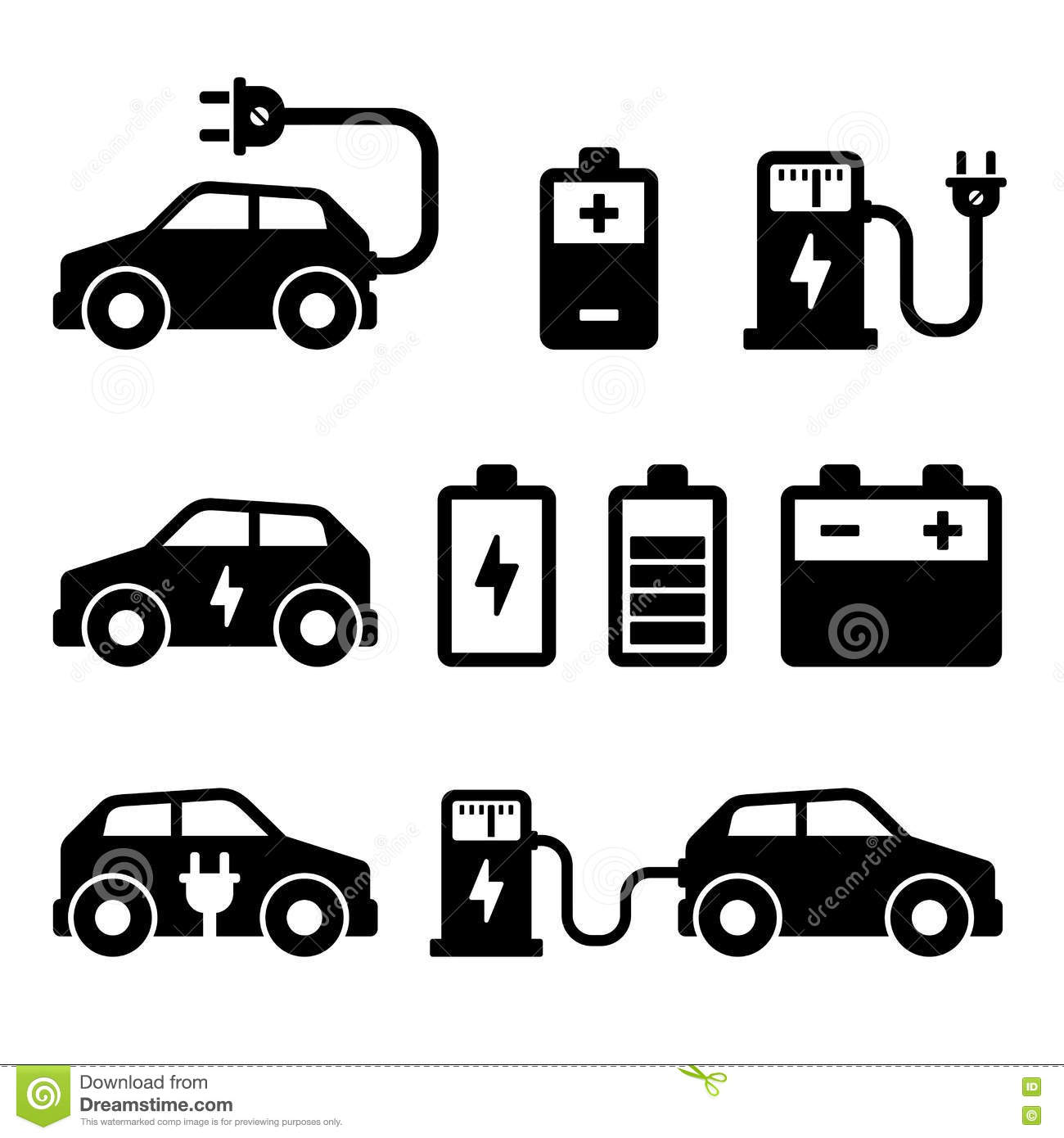Electric Car Charger Battery. Vector Illustration Stock