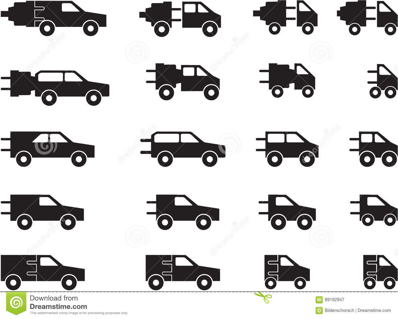 Electric Car Pictogram S Stock Vector Illustration Of