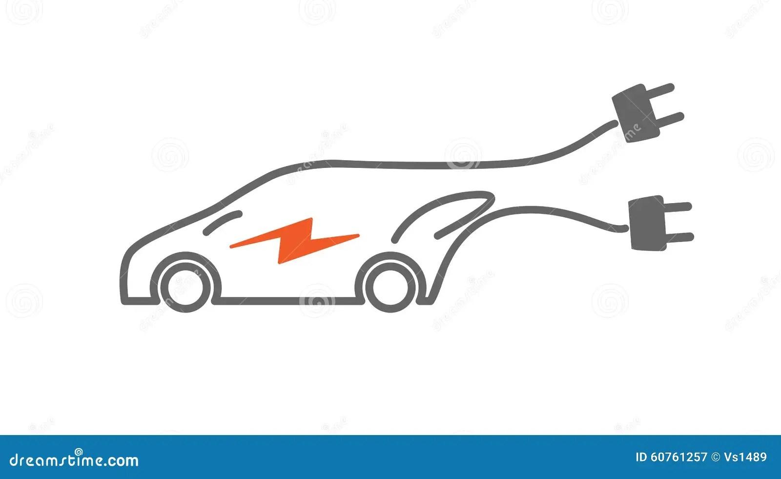 Electric Car Icon Image Cartoon Vector