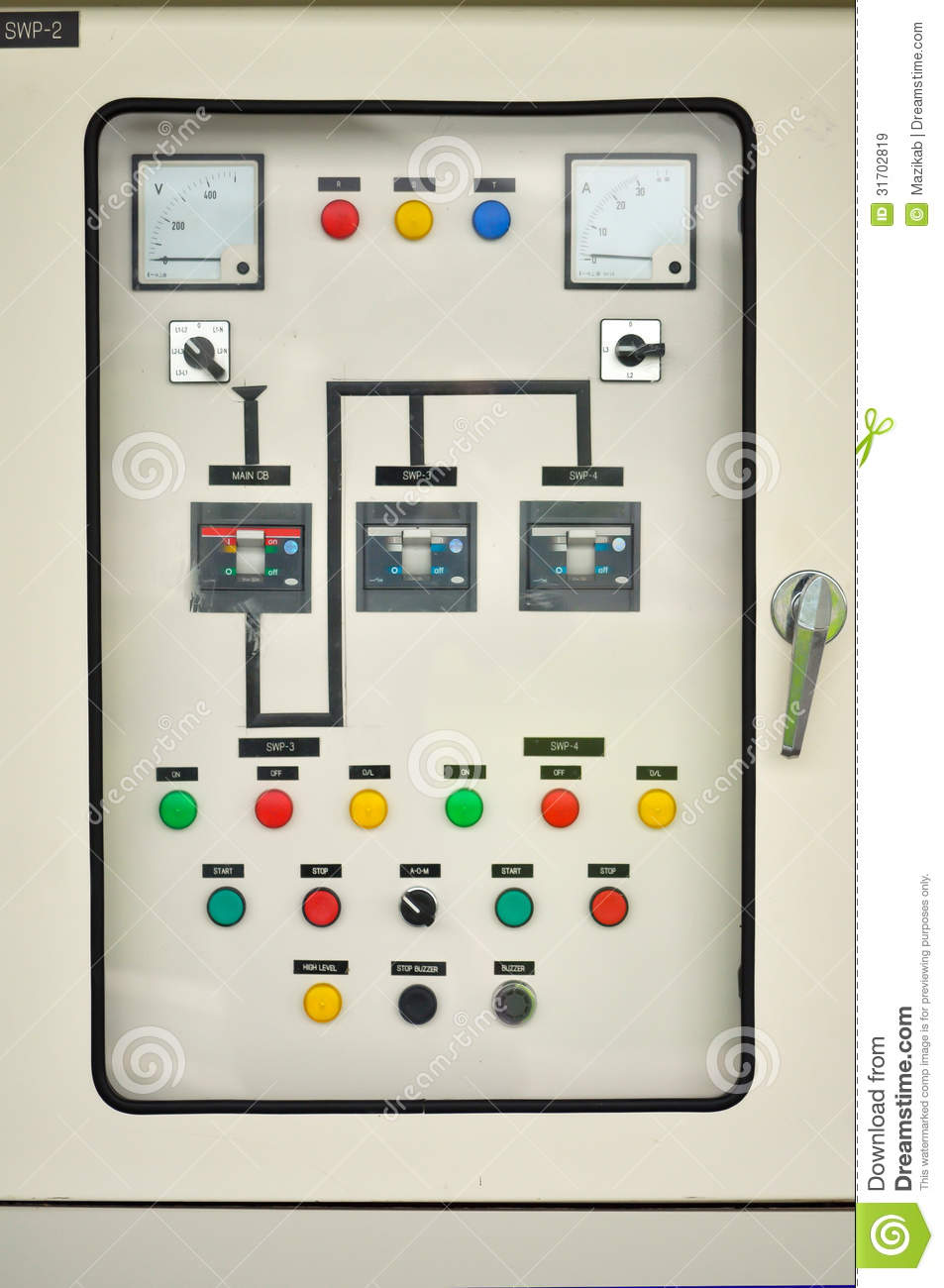 hight resolution of electric control system in an office building