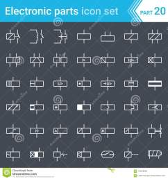 electric and electronic icons electric diagram symbols relays and electromagnets  [ 1300 x 1390 Pixel ]