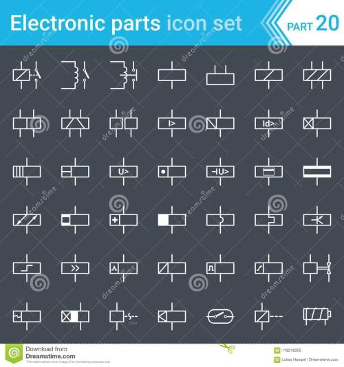 small resolution of electric and electronic icons electric diagram symbols relays and circuit diagram symbol for relay