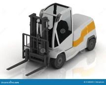 Electric Forklift Stock Illustration. Illustration Of
