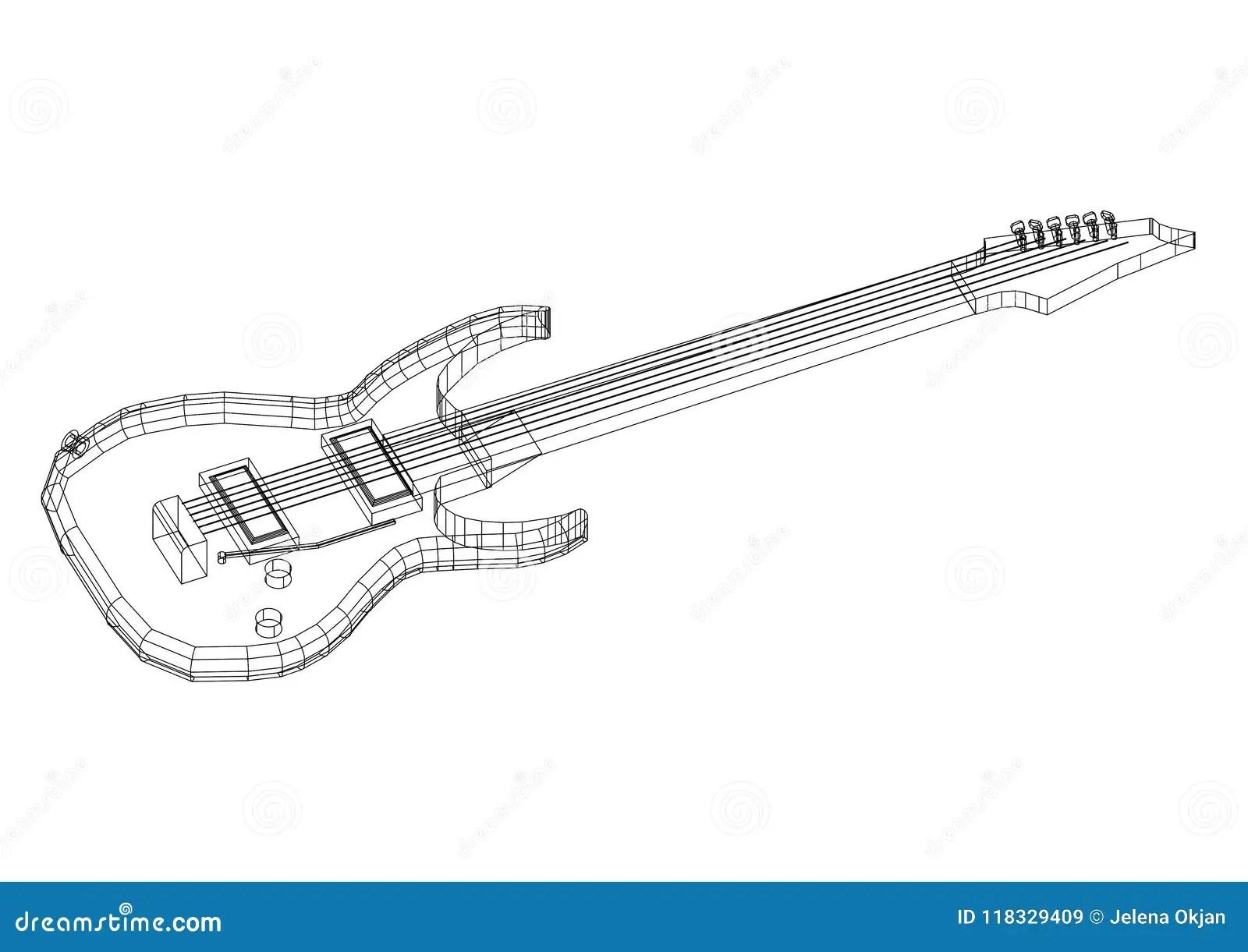 Guitar Blueprint Stock Photos