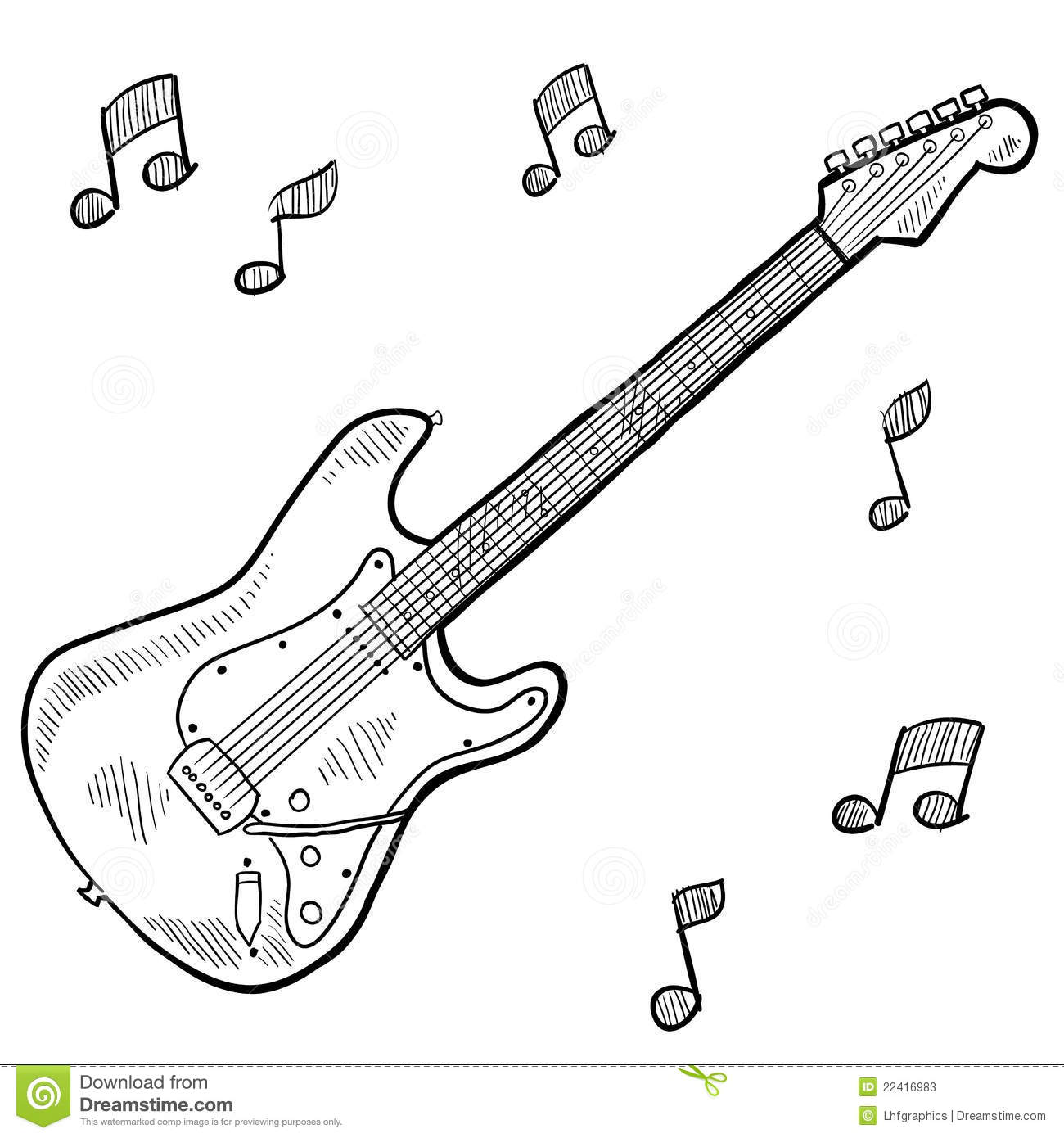 Electric Guitar Drawing Stock Photos