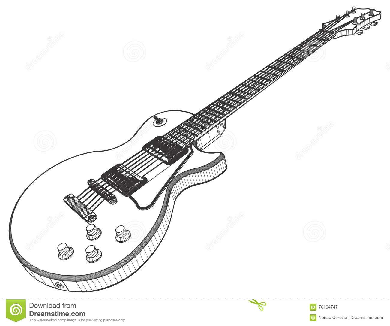 Electric Guitar Vector Stock Vector