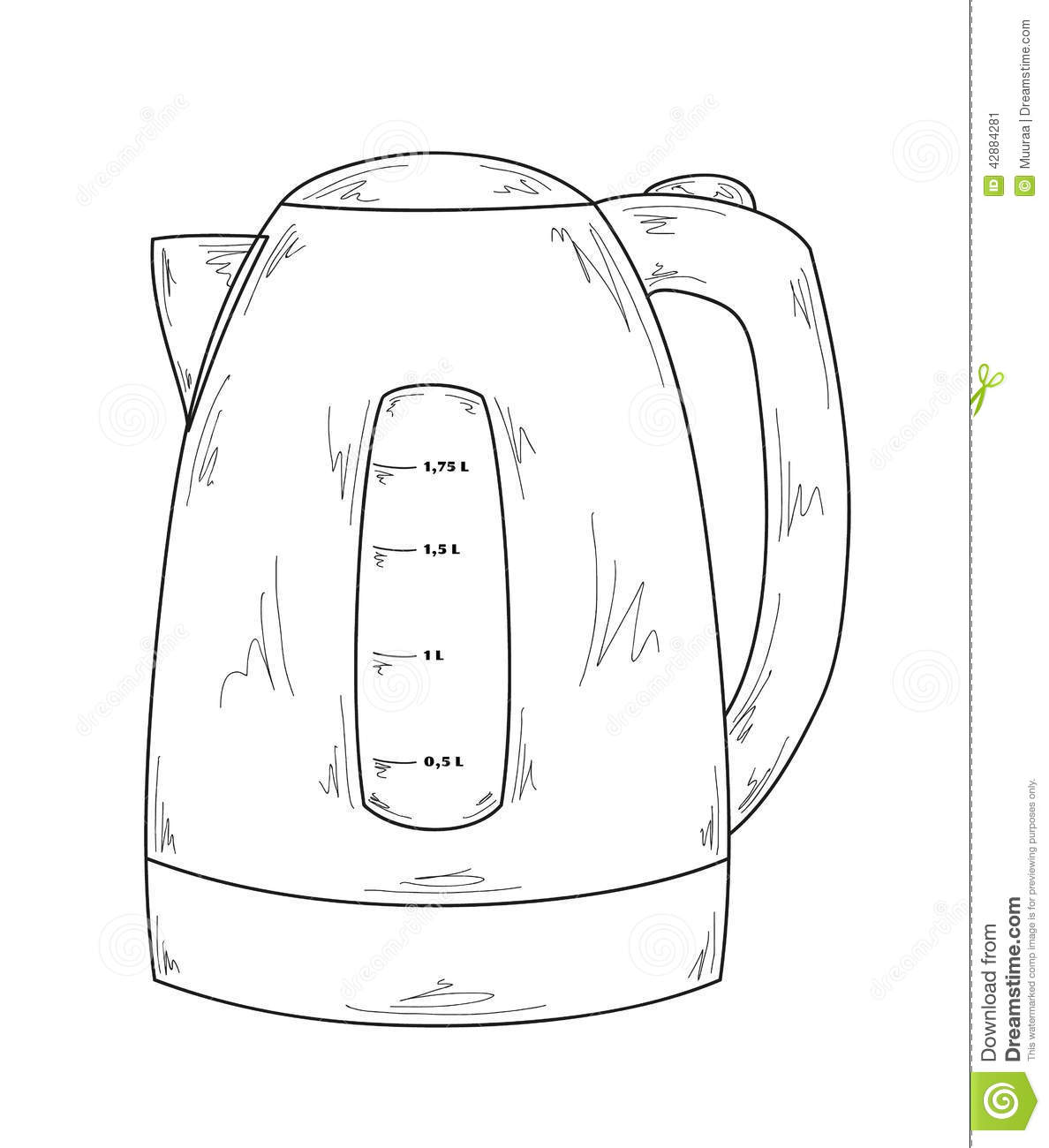 Electric Kettle Stock Vector