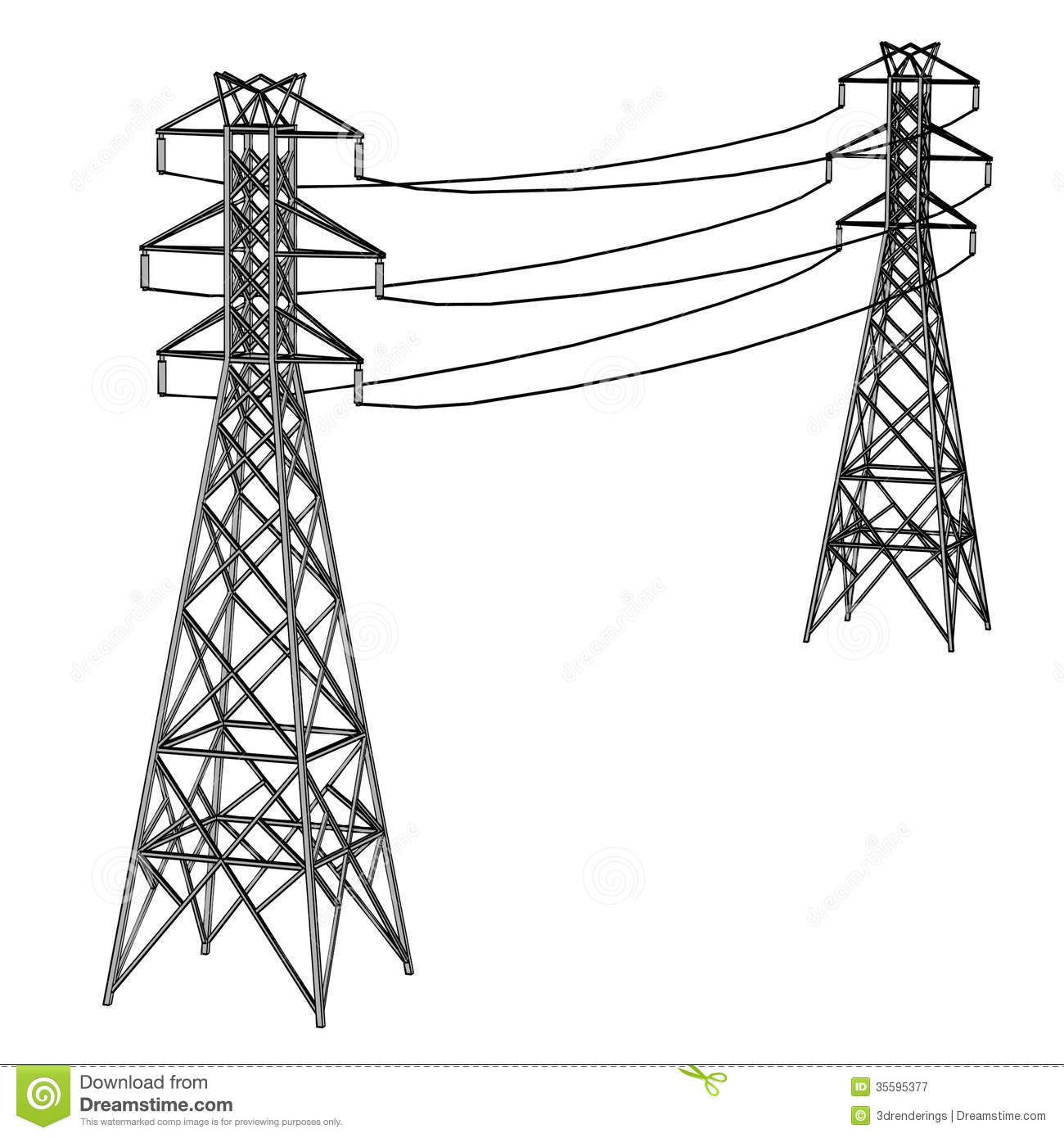 Electric Lines Royalty Free Stock Photography