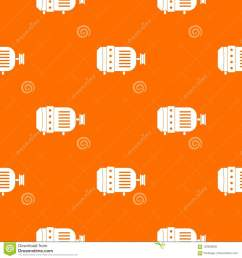 electric motor pattern repeat seamless in orange color for any design vector geometric illustration [ 1300 x 1390 Pixel ]