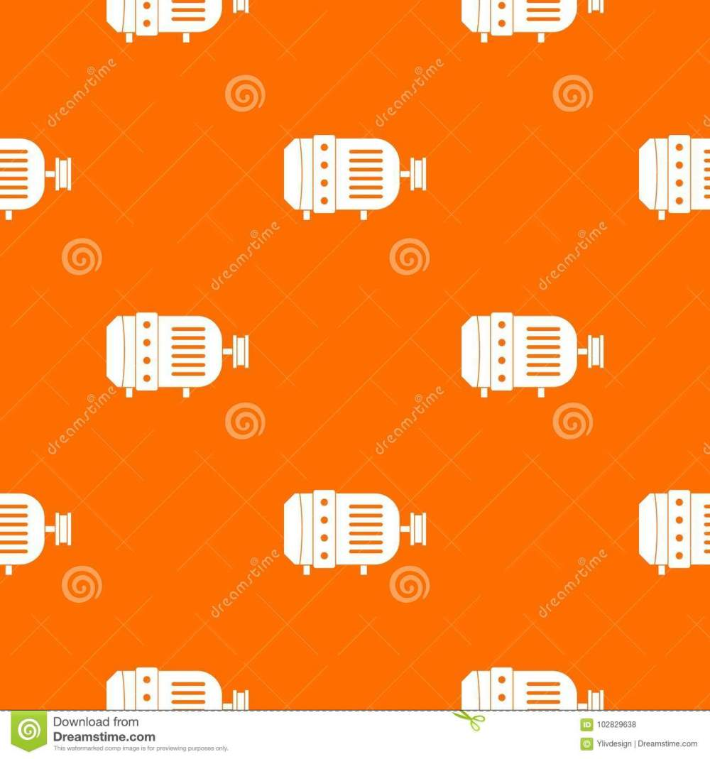 medium resolution of electric motor pattern repeat seamless in orange color for any design vector geometric illustration