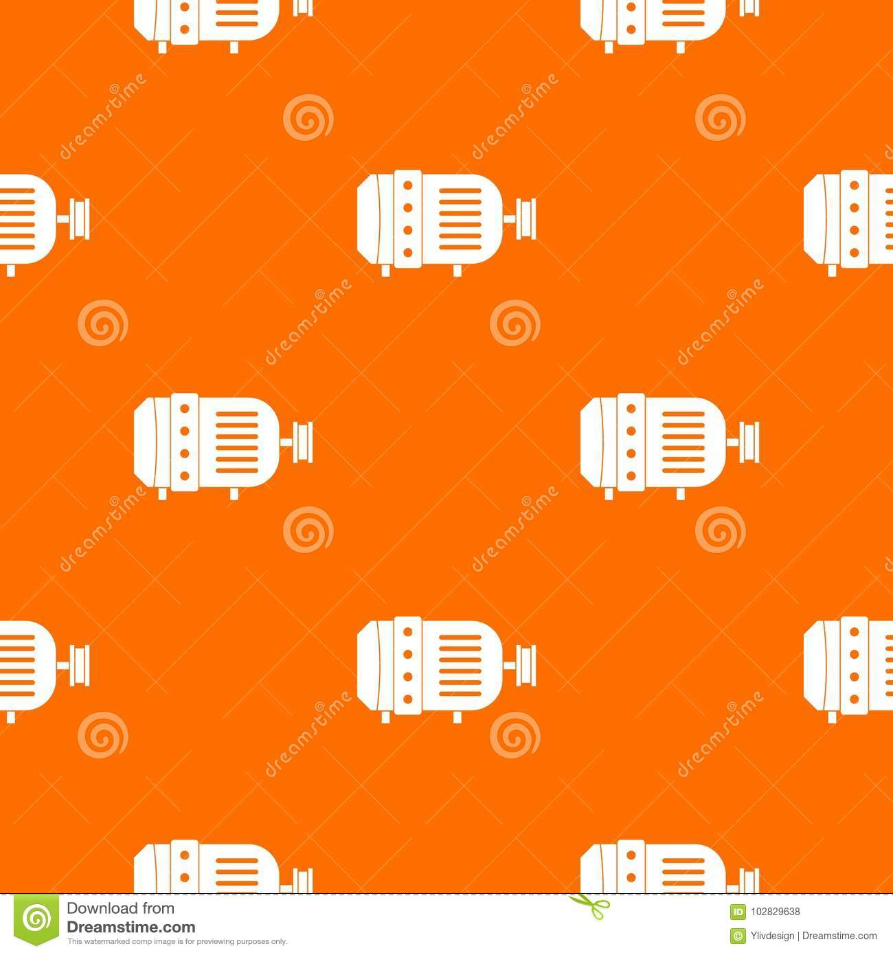 hight resolution of electric motor pattern repeat seamless in orange color for any design vector geometric illustration
