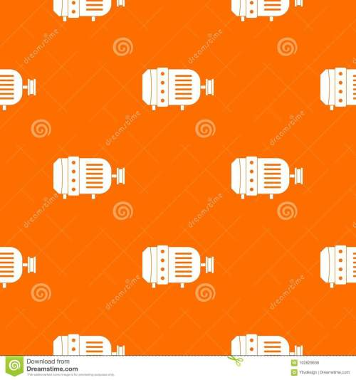 small resolution of electric motor pattern repeat seamless in orange color for any design vector geometric illustration