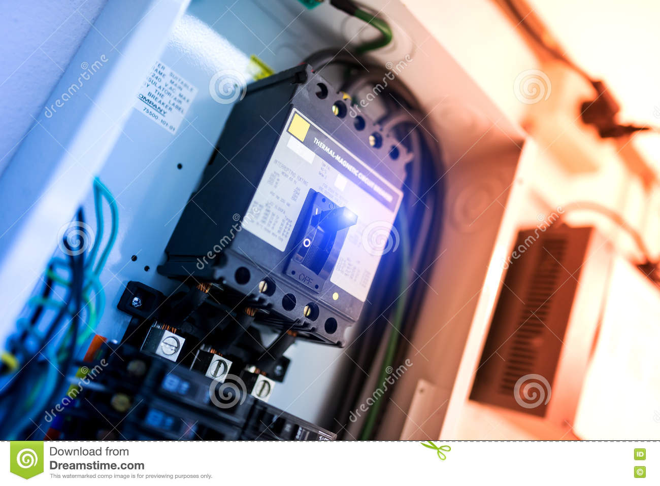 hight resolution of electric outdoor fuse box in soft light stock image image of fuse box placement on a 2015 lincoln mkz fuse box airplane