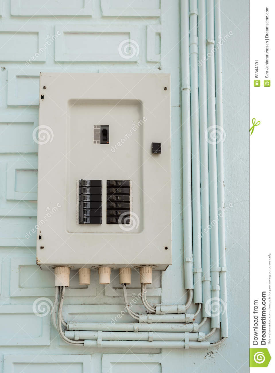 medium resolution of electric panel fuse box and power pipe line stock image image of diazed fuse original