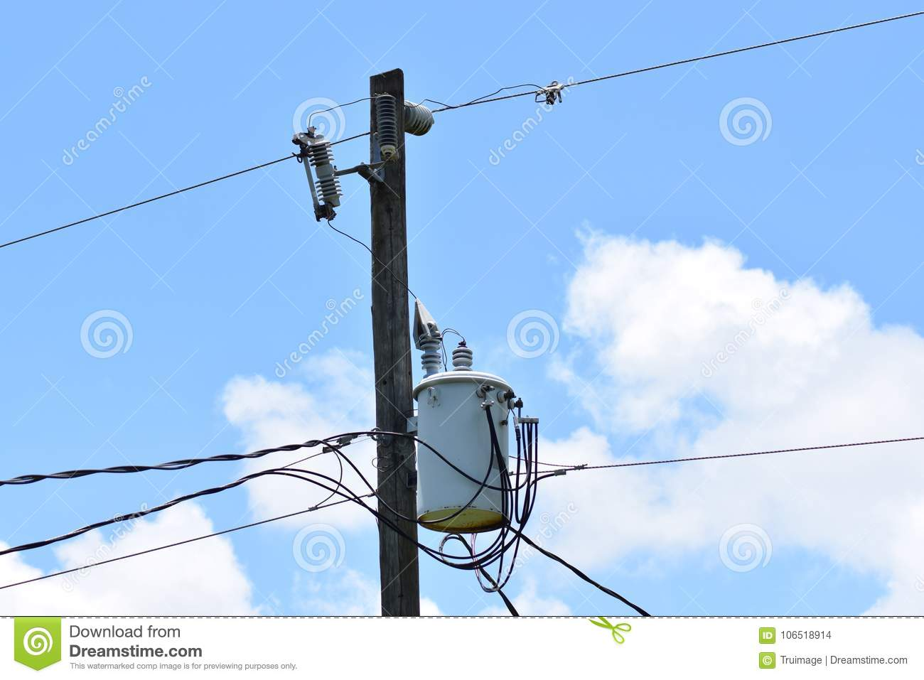 hight resolution of electric pole wires and transformer