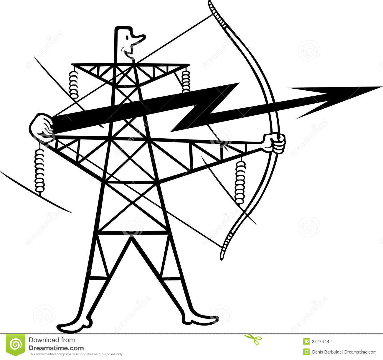 Electric Power Transmission Stock Vector