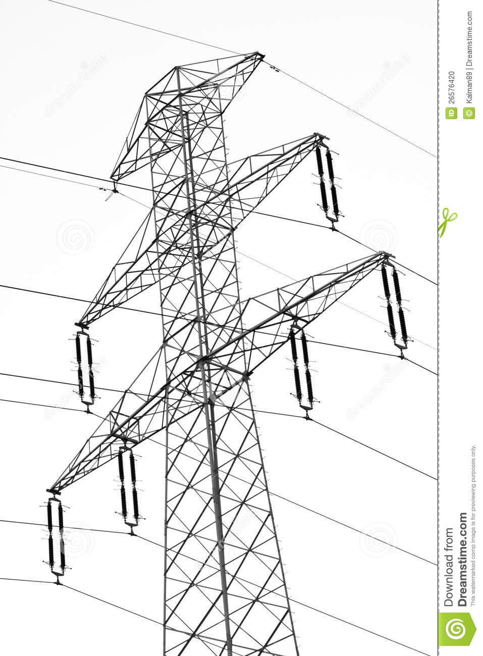 Electric pylon stock illustration. Image of pole
