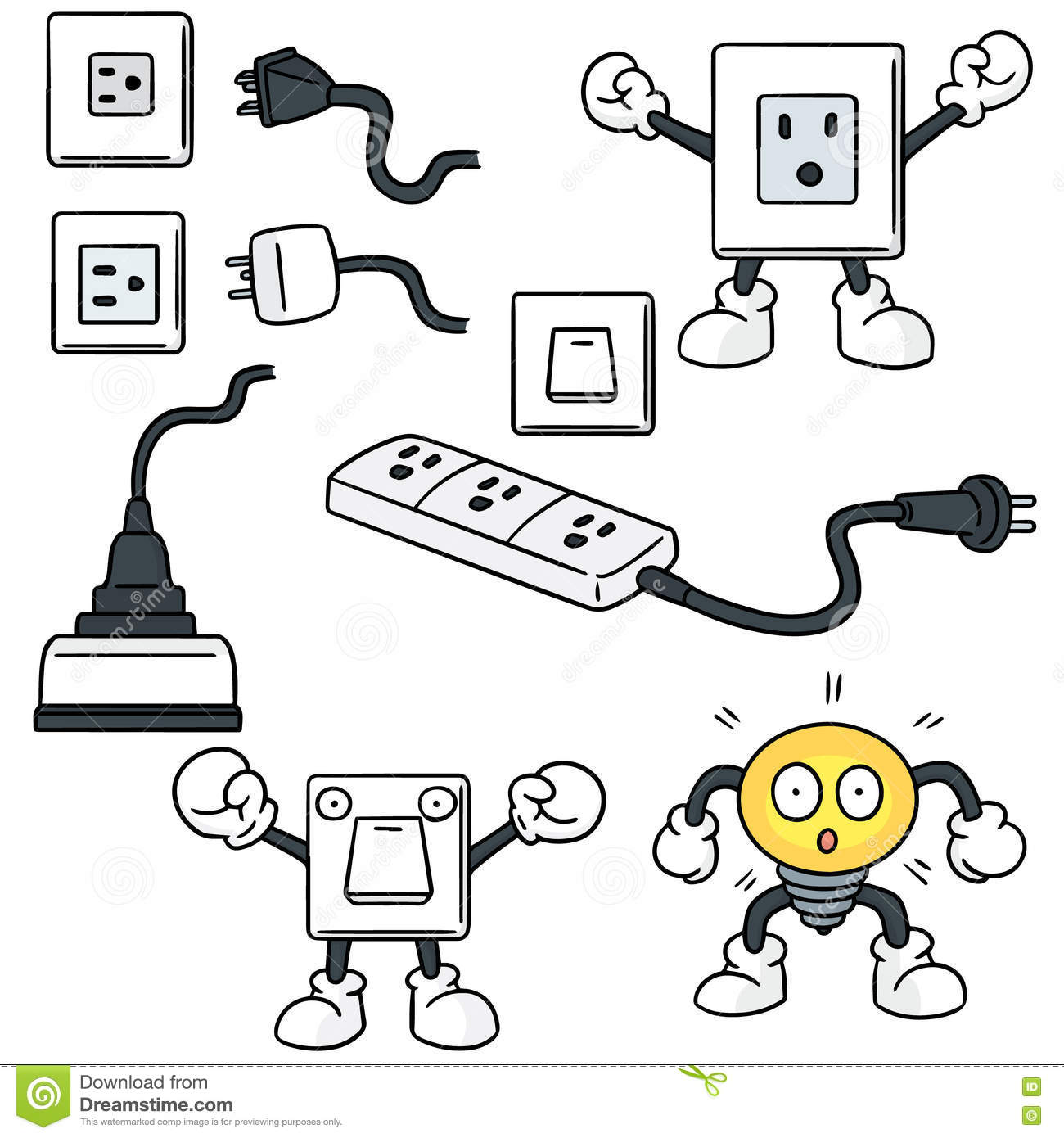 hight resolution of electric switch and plug