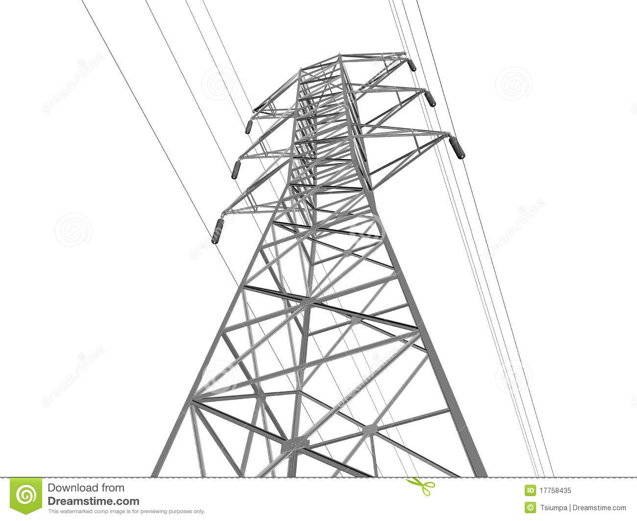 Electric Transmission Line Royalty Free Stock Photo