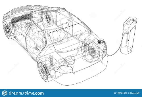 small resolution of electric vehicle charging station sketch vector rendering of 3d wire frame style the layers of visible and invisible lines are separated