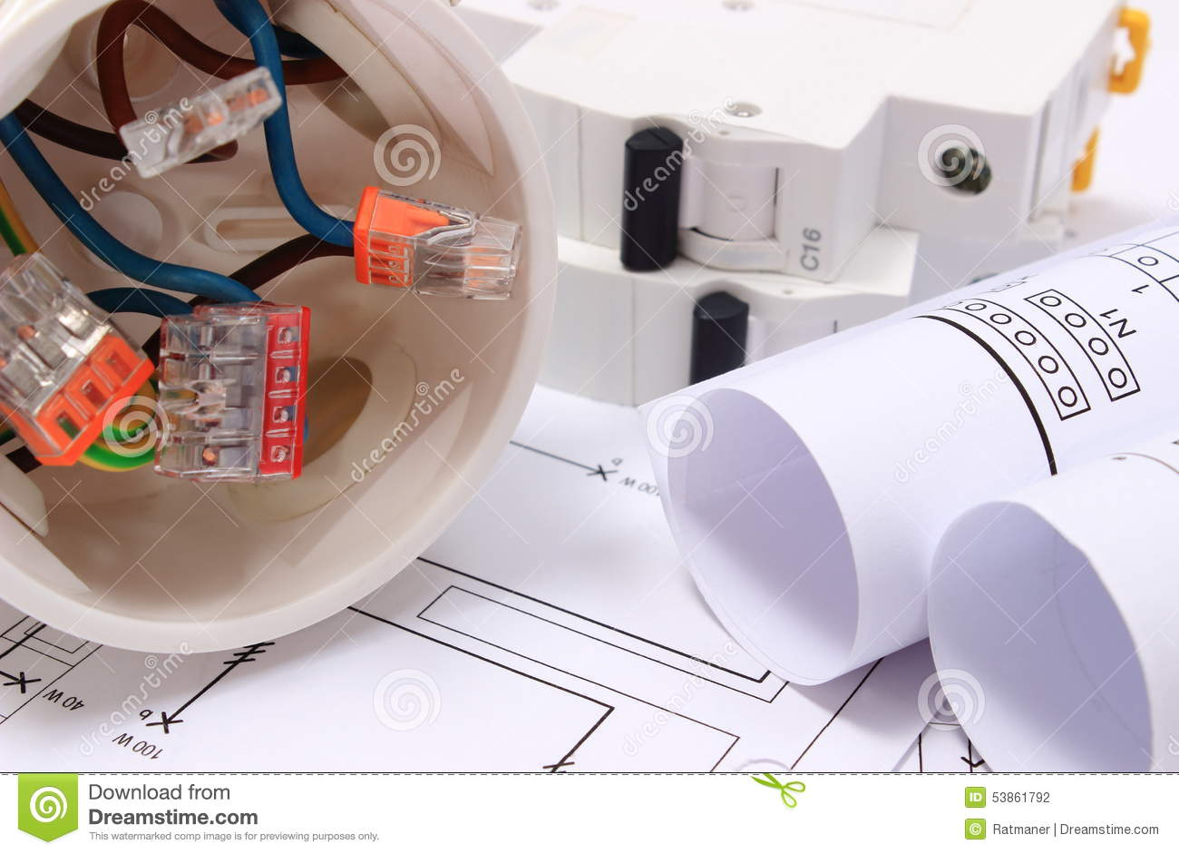 fuse box and construction equipment