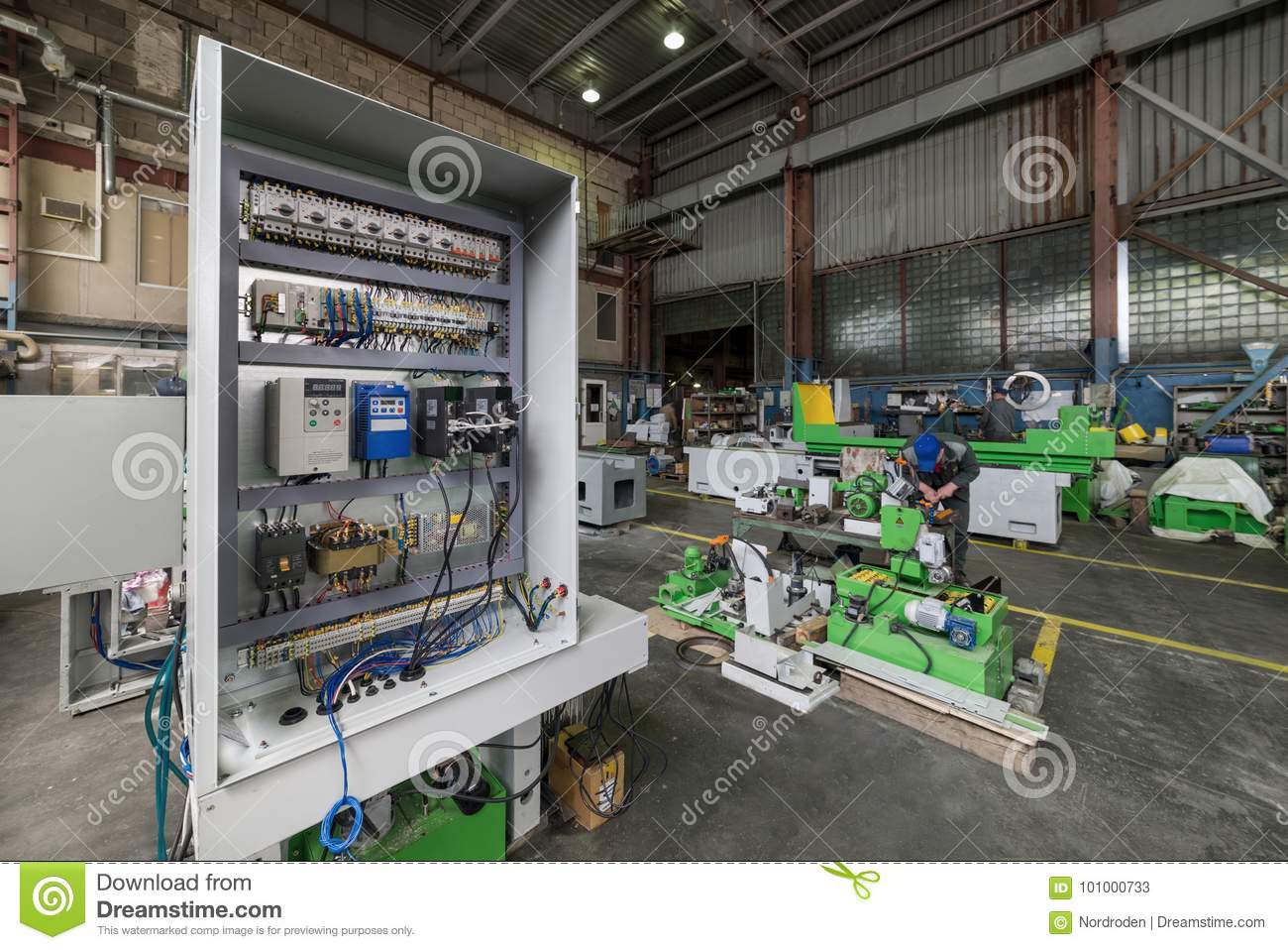 hight resolution of electrical cabinet the assembly of the electrical control system of a metalworking machine