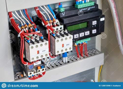 small resolution of in the electrical cabinet contactors and control relay